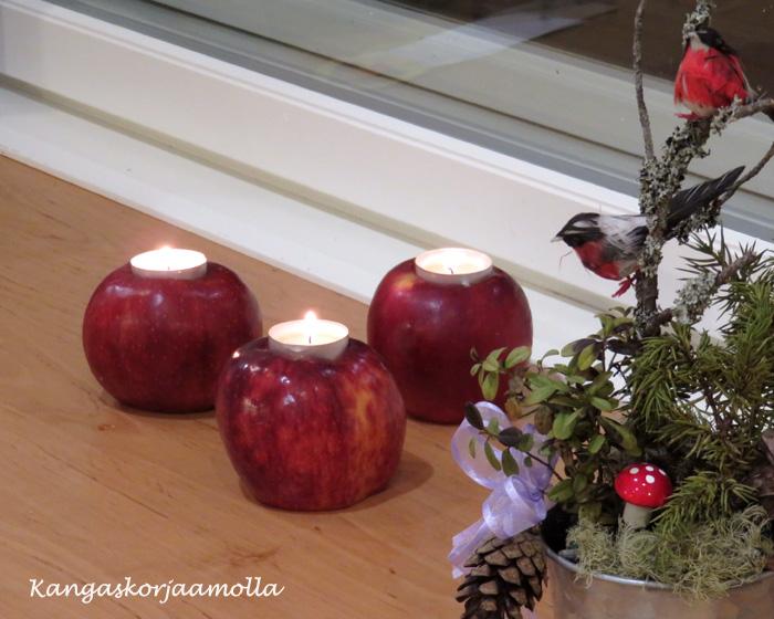 Tuikkualusta omenasta