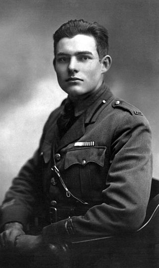 Young Ernest Hemingway in 1918