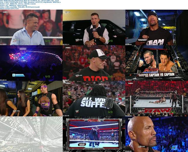 WWE Monday Night Raw SuperShow 14 de Noviembre Del 2011 HDTV Español Latino Descargar
