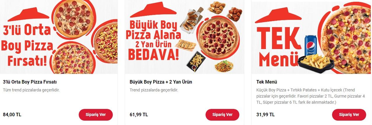 pizza hut kampanyaları 3 lü orta boy pizza fırsatı 2021 online sipariş