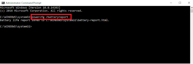 How to check laptop battery health in Windows 10?