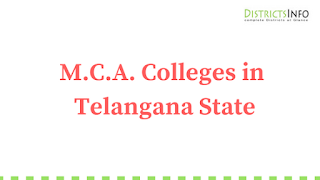 List of MCA Colleges in Telangana