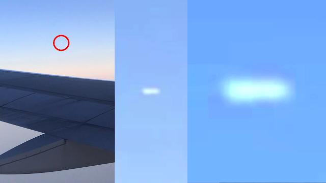 TicTac OVNI visto desde un avión sobre Boston, Massachusetts el 9-6-2019