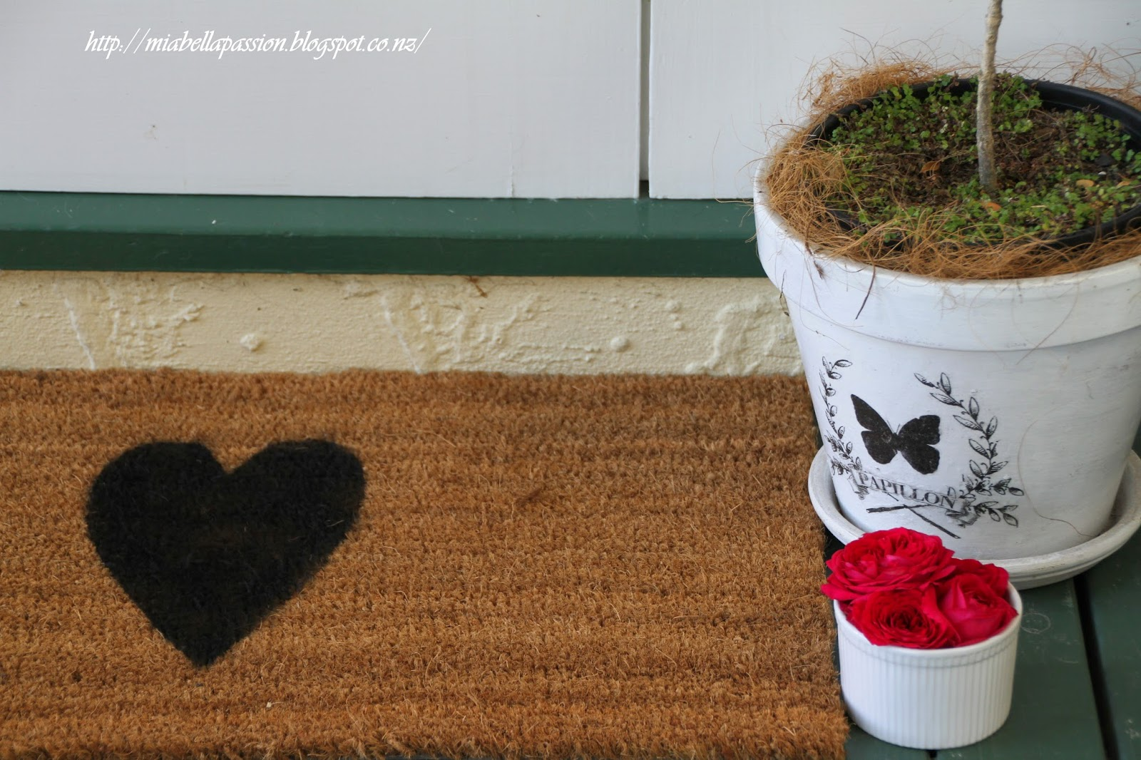 Simple Heart Door Mat...