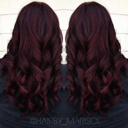 mahogany Hair Color purple shading