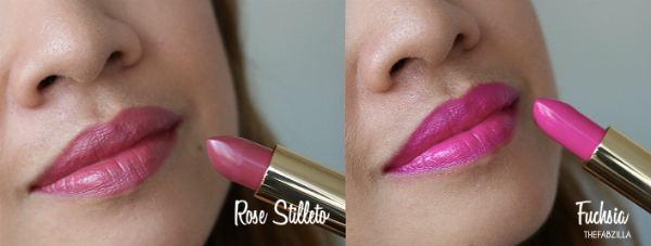 YSL Rouge Pur Couture, Rose Stiletto, Fuchsia, Review, Swatch