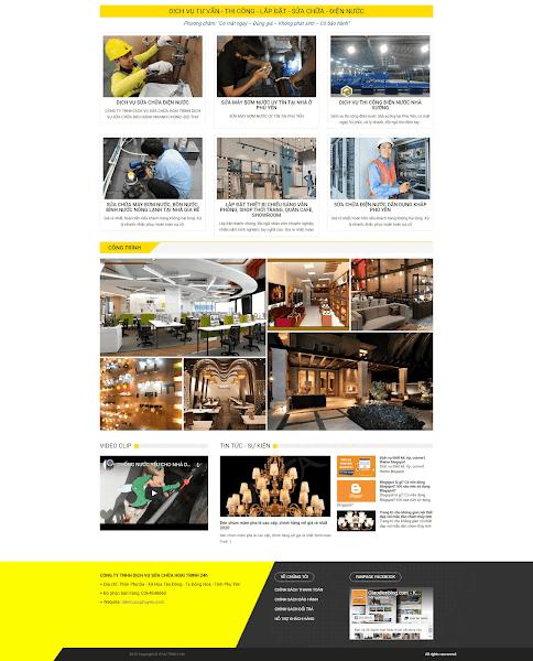Theme blogspot dịch vụ công ty
