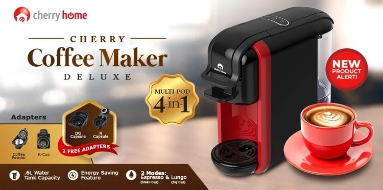 Cherry Coffee Maker Deluxe; Now Brewing for Only Php5,500