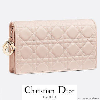 Princess Marie carries Christian Dior Lady Dior Clutch in Dusty Pink