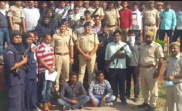 धौलपुर पुलिस की बडी कामयाबी 50 हजार का है इनामी बदमाश पप्पू को पकड़ा