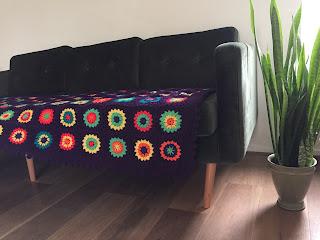 paarse bohemian deken