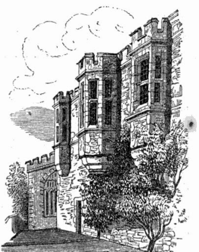 Haddon Hall from Adam's guidebook (1852)