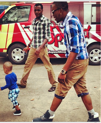Stylish Duo: Olamide steps out with Kaffy's son