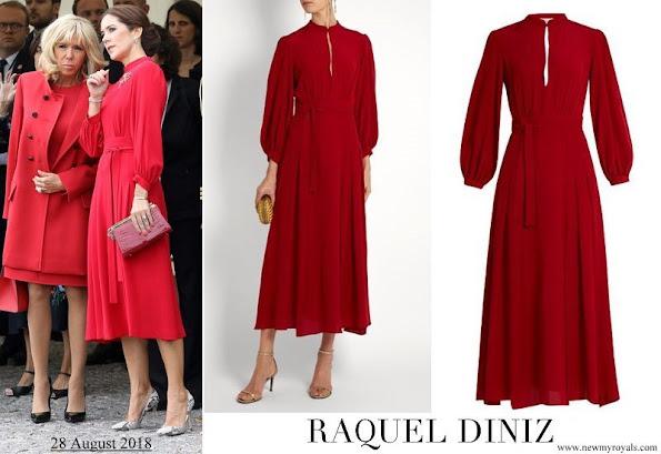 Crown Princess Mary wore Raquel Diniz Armonia silk-georgette dress