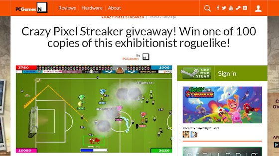 Crazy Pixel Streaker Giveaway by PCGamesN