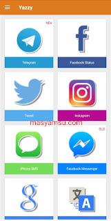 Yazzy adalah aplikasi yang digunakan untuk membuat chattingan palsu untuk lelucon. Download Apk Yazzy versi terbaru saat ini disini.