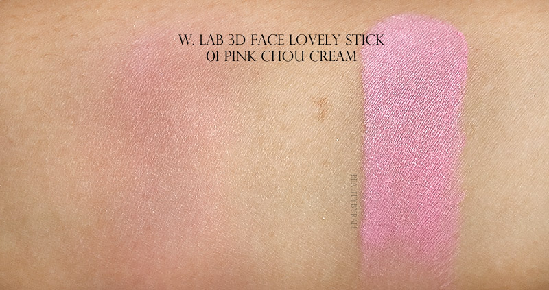 W Lab 3D Face Lovely Stick 01 Pink Chou Cream