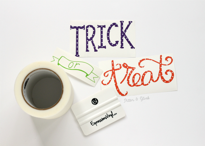 Hand-Lettered Trick or Treat Vinyl Decal