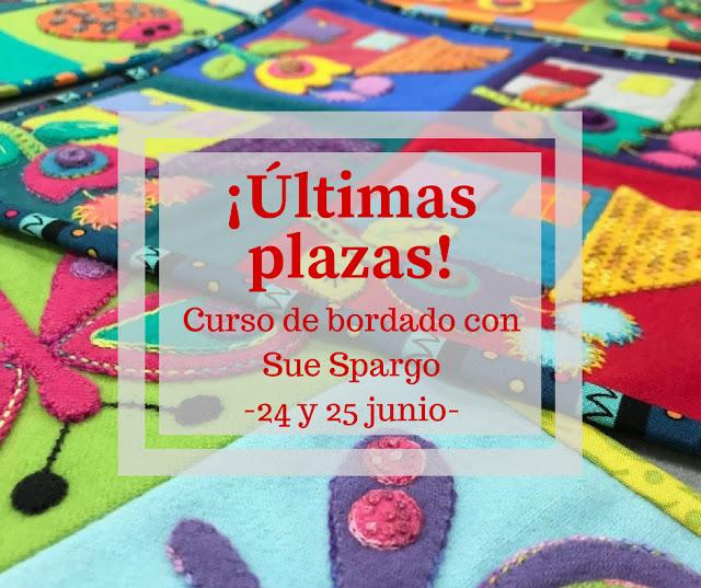 ¡Últimas plazas para el curso de bordado de Sue Spargo!