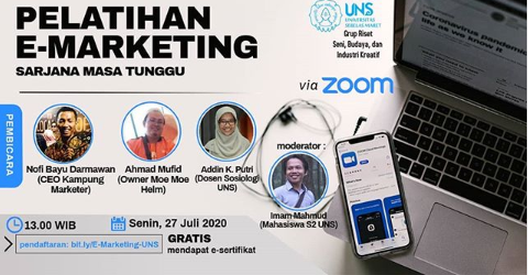 Webinar E Marketing Tingkat Nasional 2020 di UNS