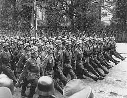 German troops march into Warsaw- Invasion of Poland 1939