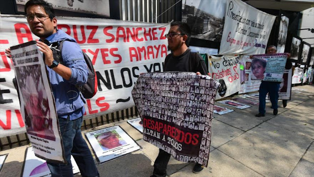 Protesta contra Gobierno de México por desapariciones forzadas