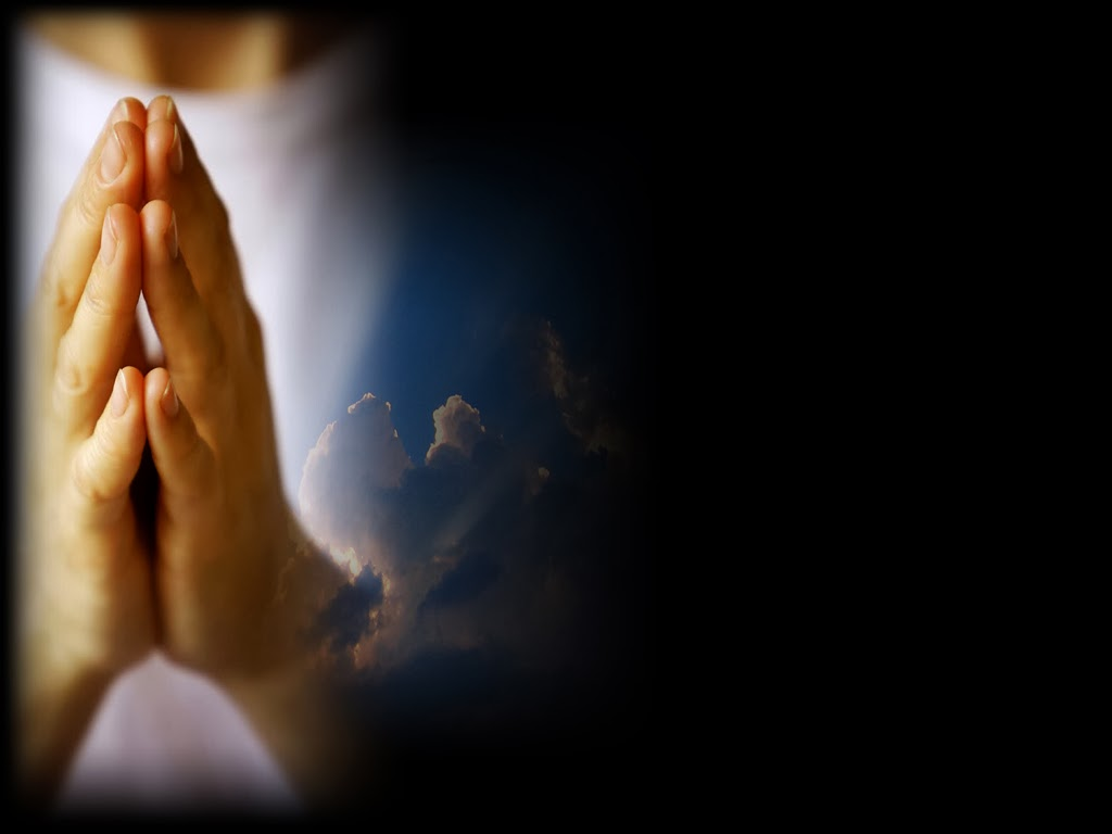 Cross And Praying Hands With Rosary Background Picture ...