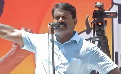 Seeman blames Congress for poverty in India