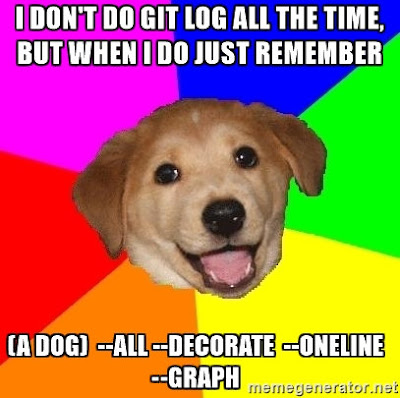 Show pretty git log graphs in command line