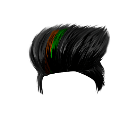 Orange And Green CB Hairstyle PNG Free Stock [ Download Now ]
