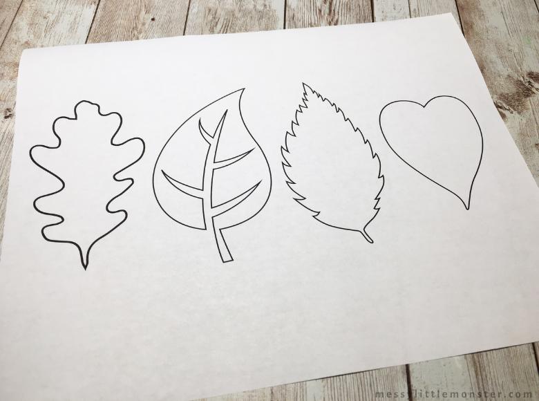 printable leaf outline