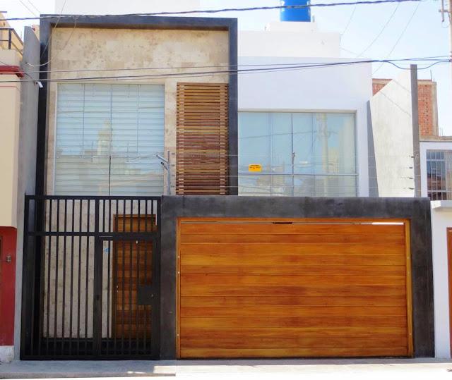 Fachadas de casas bonitas moderna casa de dos pisos con for Fachadas modernas de 2 pisos