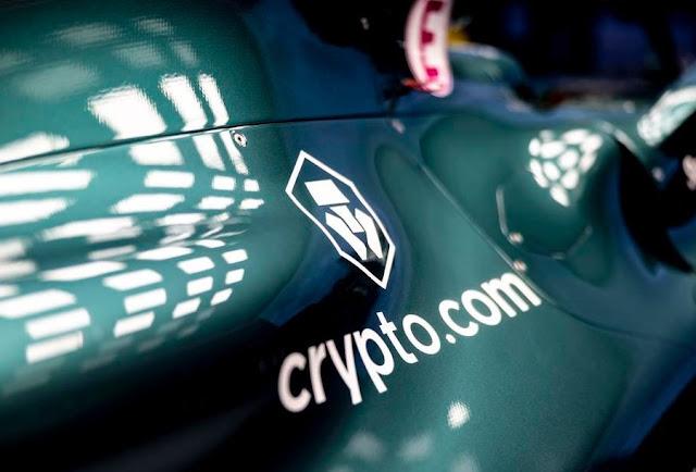 Logo Sponsor Crypto.com Di Mobil F1 Terbaru Dari Aston Martin Racing Teams