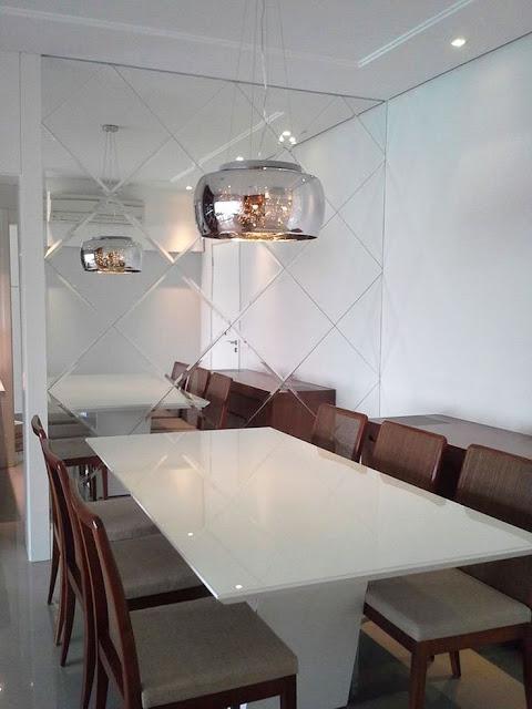 Espelhos Para Sala De Jantar Etna ~  10 salas de jantar com espelhos!  Jeito de Casa  Blog de Decoração