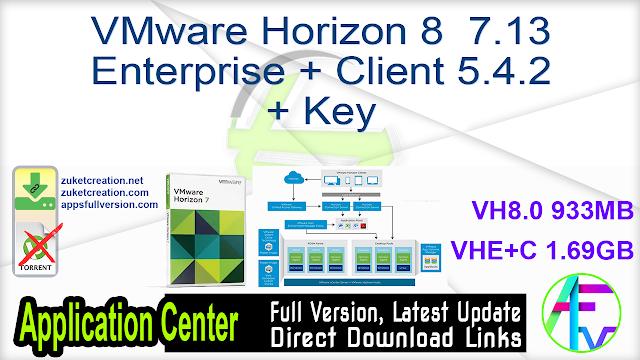 VMware Horizon 8 / 7.13 Enterprise + Client 5.4.2 + Key