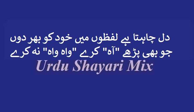 دل چاہتا ہے لفظوں میں | Urdu shayari | Shari | Sad