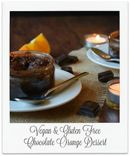This easy to make luxurious chocolate orange dessert would be perfect for Valentine's Day, date night, or on those ocassions when you feel the need for a delicious chocolate pudding.
