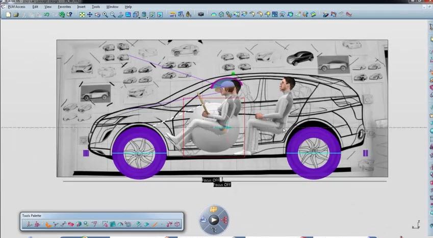 ขั้นตอนออกแบบรถยนต์ด้วยวิธีการใช้โปรแกรมcatia V6 Drawing99