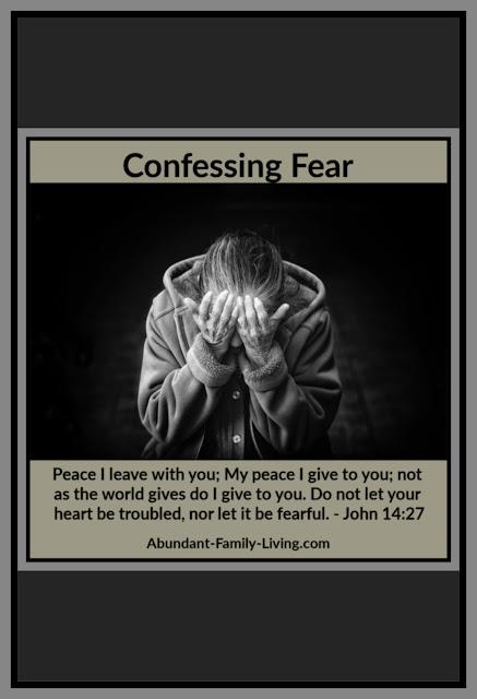 Confessing Fear Pinterest
