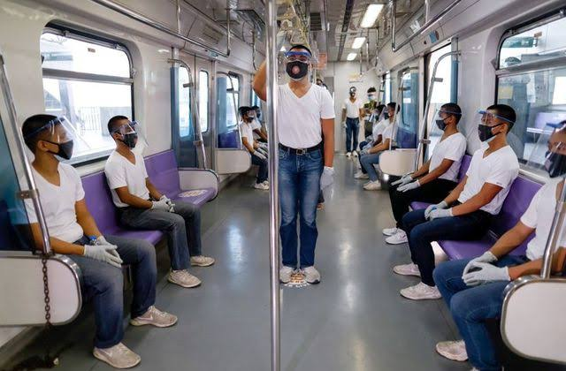 Face shields required in public transport by August 15
