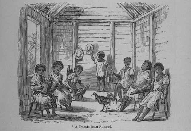 Escuela dominicana según Samuel Hazard decada 1870