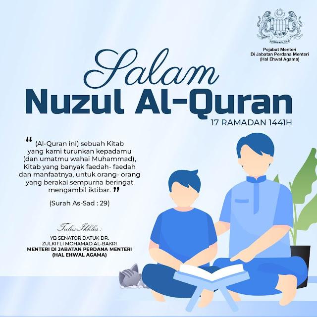 salam nuzul al-quran 17 ramadhan 1441h