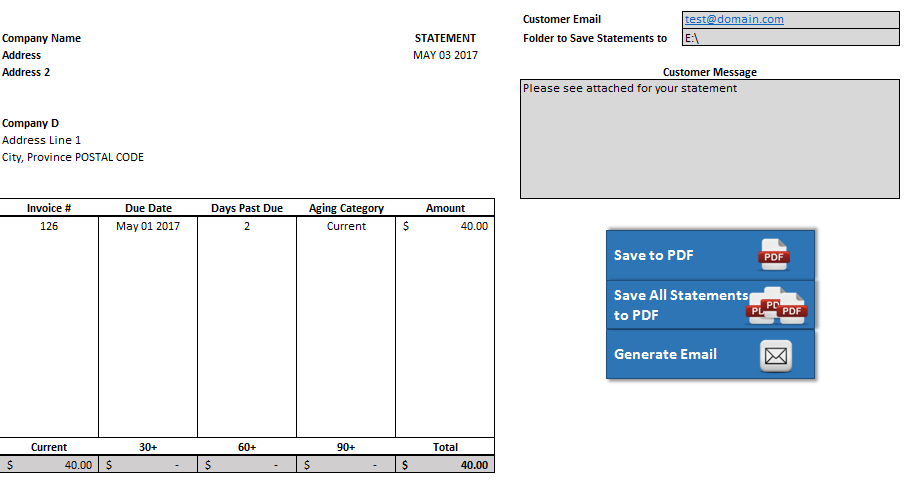 account receivable statement template