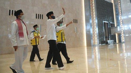 JOKOWI Tinjau Kesiapan New Normal di Masjid Istana Kepresidenan Jakarta, 4 Juni 2020