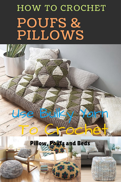 How to Crochet Poufs, Floor Pillows and Ottomans for your Home