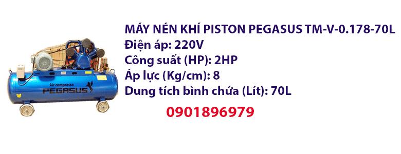 MÁY NÉN KHÍ PISTON PEGASUS TM-V-0.178-70L