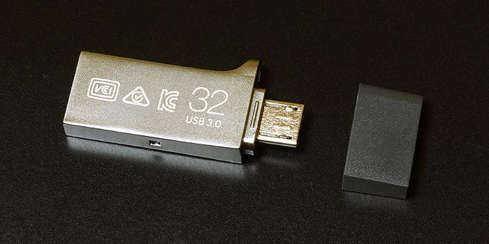 サムスンUSB Flash Drive DUO 32GBの背面デザイン