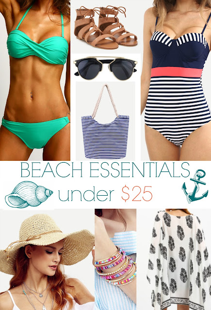 beach essentials under $25