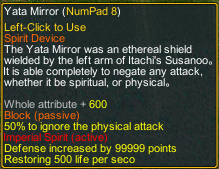 Naruto Counter Attack 7.8 Item Yata mirror detail