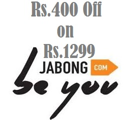 Get Rs.400 Off On Min Cart Value of Rs.1299 Using Oxigen Wallet @ Jabong